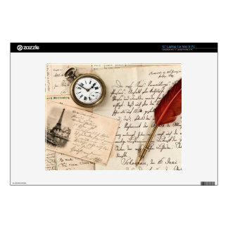 Postal de papel vieja del sello de la escritura portátil 30,5cm skin