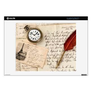 Postal de papel vieja del sello de la escritura portátil 35,6cm skins