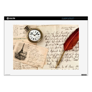 Postal de papel vieja del sello de la escritura portátil 38,1cm skin