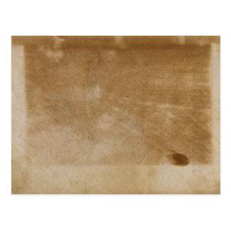 Postal de papel vieja sucia en blanco