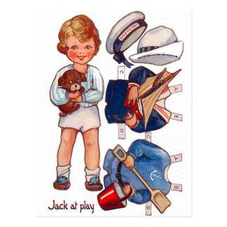 Postal de Paperdoll Little Boy Jack del vintage