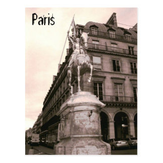 Postal de París de la estatua de Juana de Arco