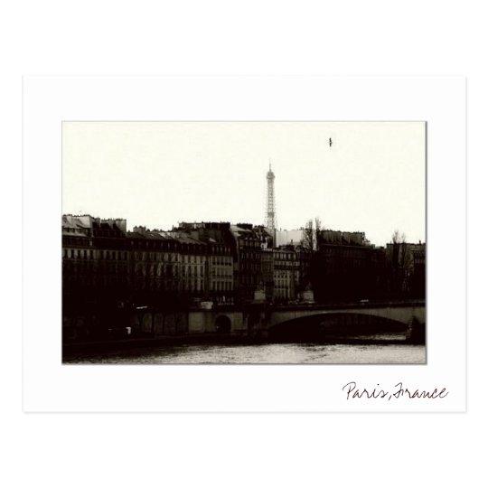 Postal de París del vintage