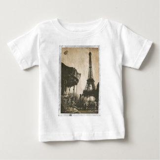 Postal de París del vintage, torre Eiffel Playera