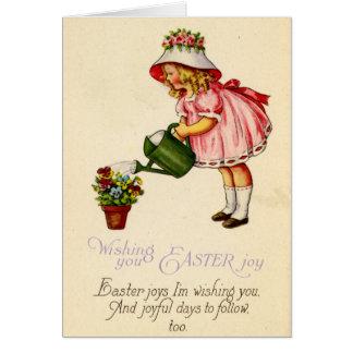 Postal de Pascua (CA 1915) Tarjeta De Felicitación