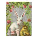 Postal de Pascua del conejito del día de fiesta de