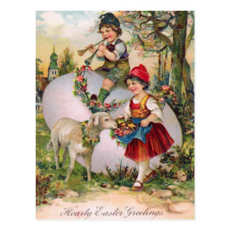 Postal de Pascua del vintage