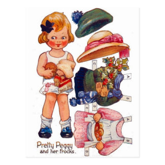Postal de Peggy de la niña de Paperdoll del