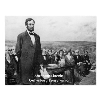 Postal de Pennsylvania Abraham Lincoln Gettysburg