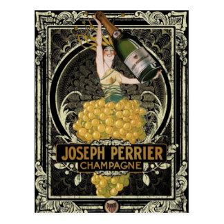 Postal de Perrier Champán del vintage