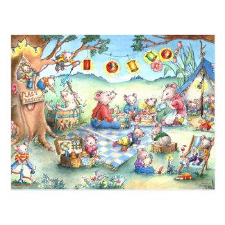 Postal de Picknick de los ratones