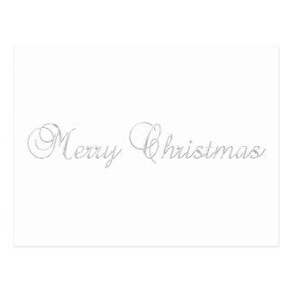 Postal de plata de las Felices Navidad