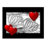 Postal de plata del amor