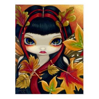 "Postal de ""pocas hojas de otoño"""