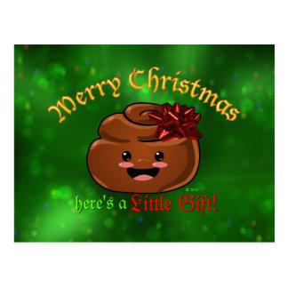 Postal de Poo del navidad