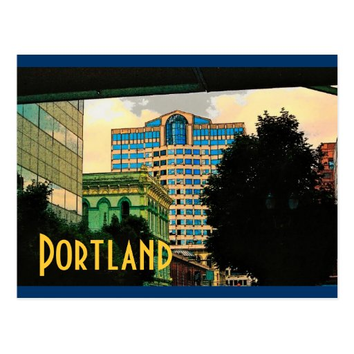 Postal de Portland (amarillo)