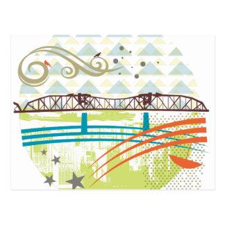 Postal de Portland del puente de Broadway