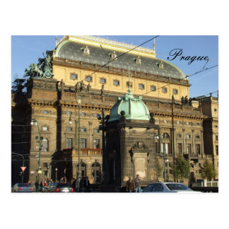 Postal de Praga el teatro nacional
