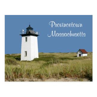 Postal de Provincetown mA del faro de Cape Cod