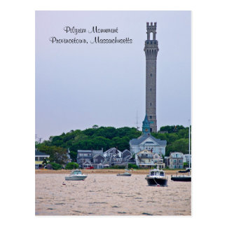 Postal de Provincetown mA del monumento del peregr