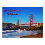 Postal de puente Golden Gate de San Francisco