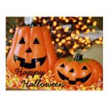 Postal de Pumkins del feliz Halloween