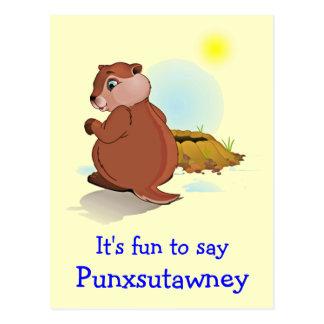 Postal de Punxsutawney del día de la marmota