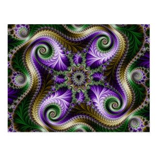 """Postal de """"Quadra"""" del fractal"""
