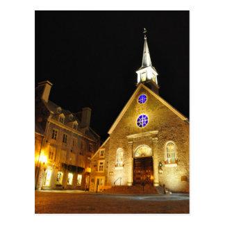 Postal de Quebec de la iglesia del DES Victoires d