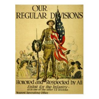 Postal de reclutamiento americana del poster de WW