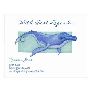 Postal de recuerdos de la ballena
