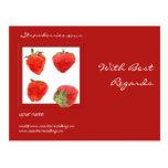 Postal de recuerdos de las fresas 4our