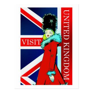 Postal de Reino Unido de la visita