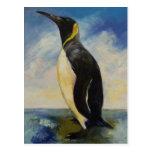 Postal de rey pingüino