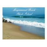 Postal de Rhode Island de la playa de Misquamicut