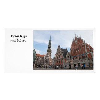 Postal de Riga Tarjetas Personales Con Fotos