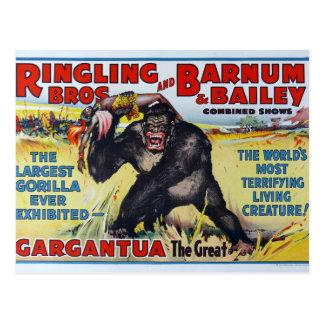 Postal de Ringling Bros del vintage