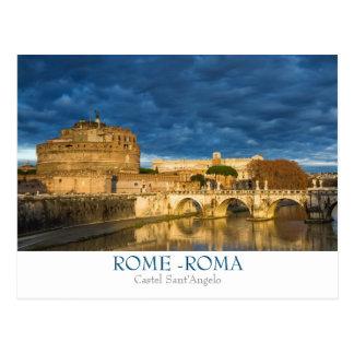 Postal de Roma - de Castel Sant'Angelo con el