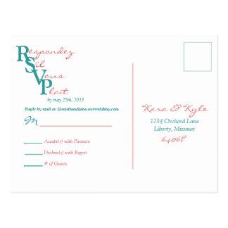 Postal de RSVP