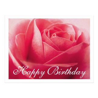Postal de saludo subió rosa del feliz cumpleaños