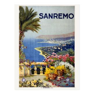 Postal de Sanremo Italia del vintage