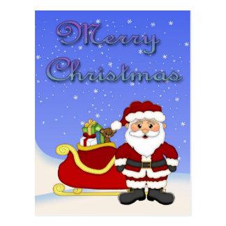 Postal de Santa de las Felices Navidad