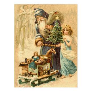 Postal de Santa del alemán del vintage