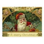 Postal de Santa del navidad