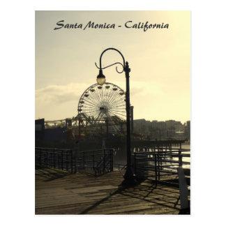 ¡Postal de Santa Mónica del estilo del vintage! Postales