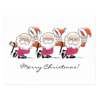Postal de Santas del baile