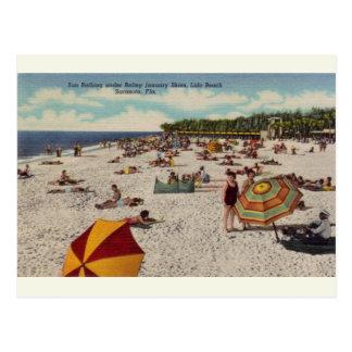 Postal de Sarasota la Florida de la playa de Lido