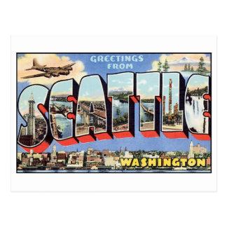 Postal de Seattle del vintage