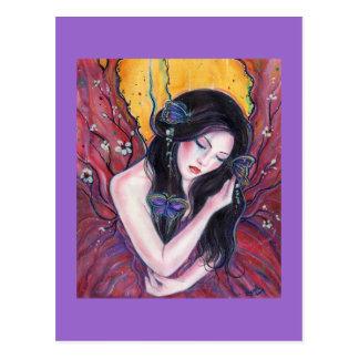 Postal de señora Butterfly de Renee Lavoie