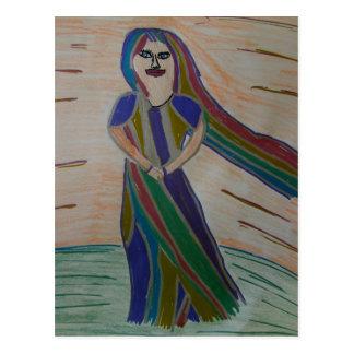 Postal de señora Rainbow de Ixchel